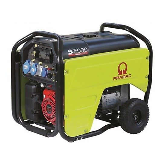 Pramac, Honda Powered 5.3kVA AVR Generator with auto start capability. The S5000 is a robust generator with all the top-class features required for domestic backup power for the home: a powerful and economical engine, a strong, modern design and a long-run 26.5L fuel tank. Very popular for backup to off-grid solar appliactions.