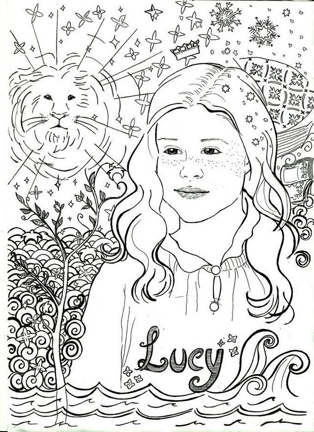 A Coloring Page Is A Page Where Drawings Are Drawn Using Lines And Which Colorists Can Fill Up And Color By Making Use Of T Lucy Pevensie Coloring Pages Narnia