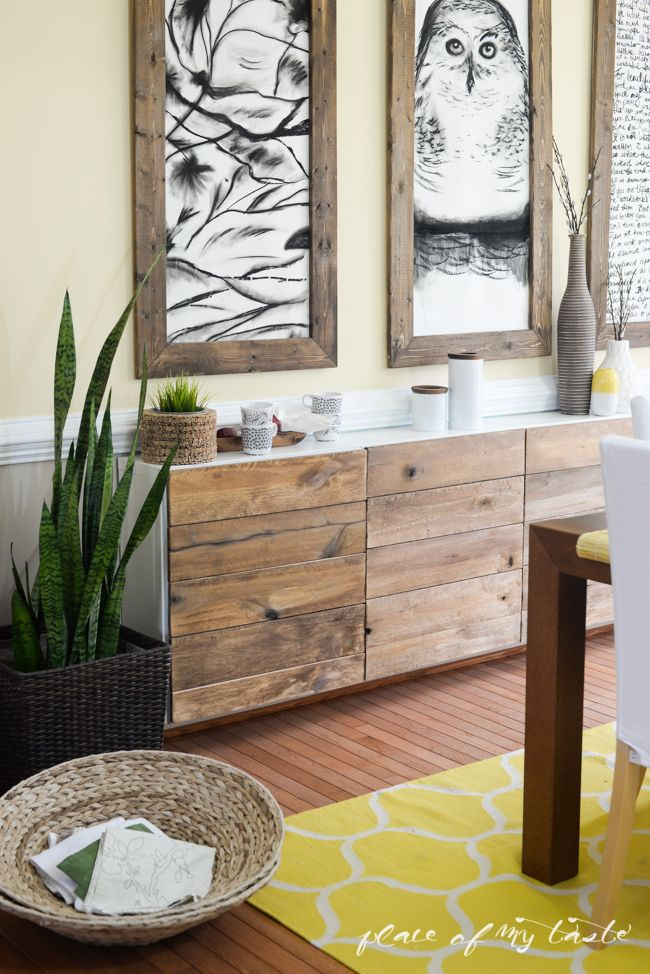Reclaimed wood buffet- IKEA HACKS