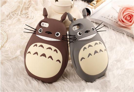 Totoro süße silikon Handy Schutz Hülle iphone4/4S/5/5S/6/Plus, Samsung Note2/3/4,S4/5/6/6edge - elespiel.com