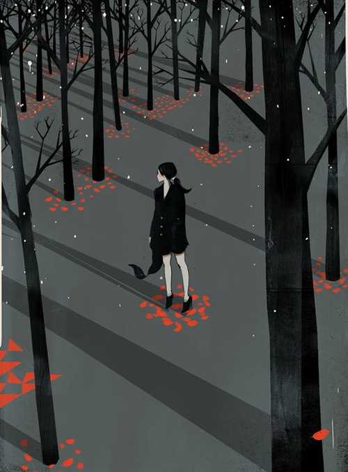 Illustration Poster- like the starkness and color.