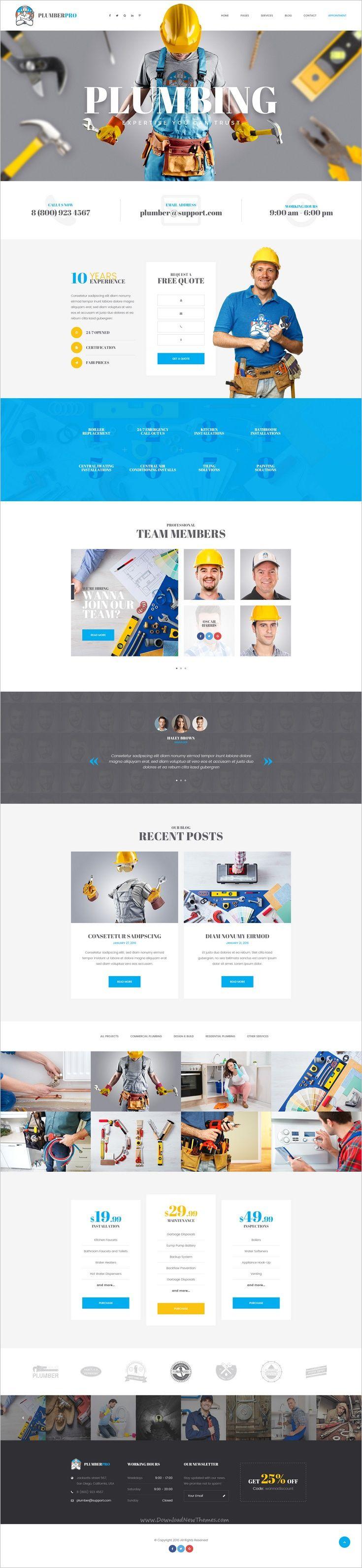 20 best Handyman website design images on Pinterest | Website ...