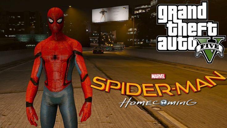 Человек-паук возвращение домой! GTA 5!