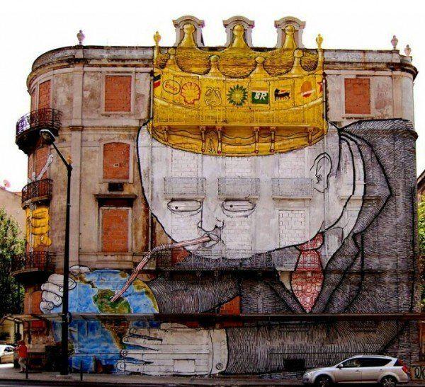 Best Street Art Graffitis Illusions Images On Pinterest - Spanish street artist transforms building facades into amazing artworks