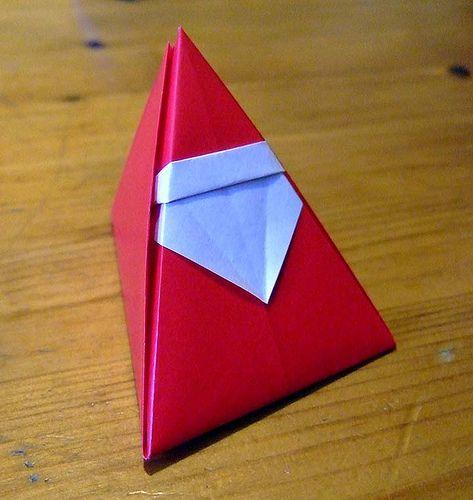 origami santa box variation