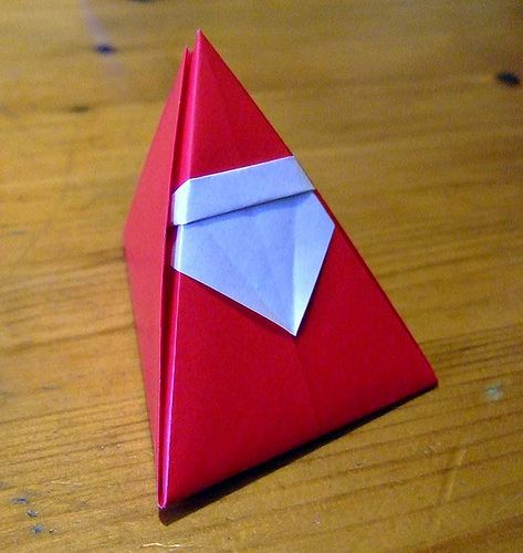 Origami Santa Ornament: 17 Best Ideas About Christmas Origami On Pinterest