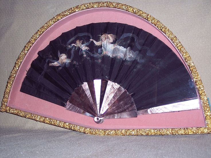 Antique 19th Century Victorian Hand Fan - Signed from phkincaid on Ruby Lane: Hands Fans Glamorous, Antiques 19Th, Antiques Fans, Victorian Purple, Victorian Fans, Purple Hands, Hand Fans, Century Victorian, Victorian Hands