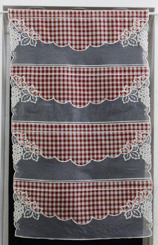 Plus de 25 id es rideaux de cuisine rouge cr atives for Rideaux cuisine 45 x 90