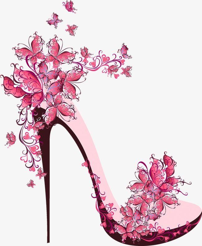 Lindo Sapato De Salto Alto Clipart De Salto Alto Lindo Flores Imagem Png E Psd Para Download Gratuito Fashion Wall Art Shoe Art Floral Border Design