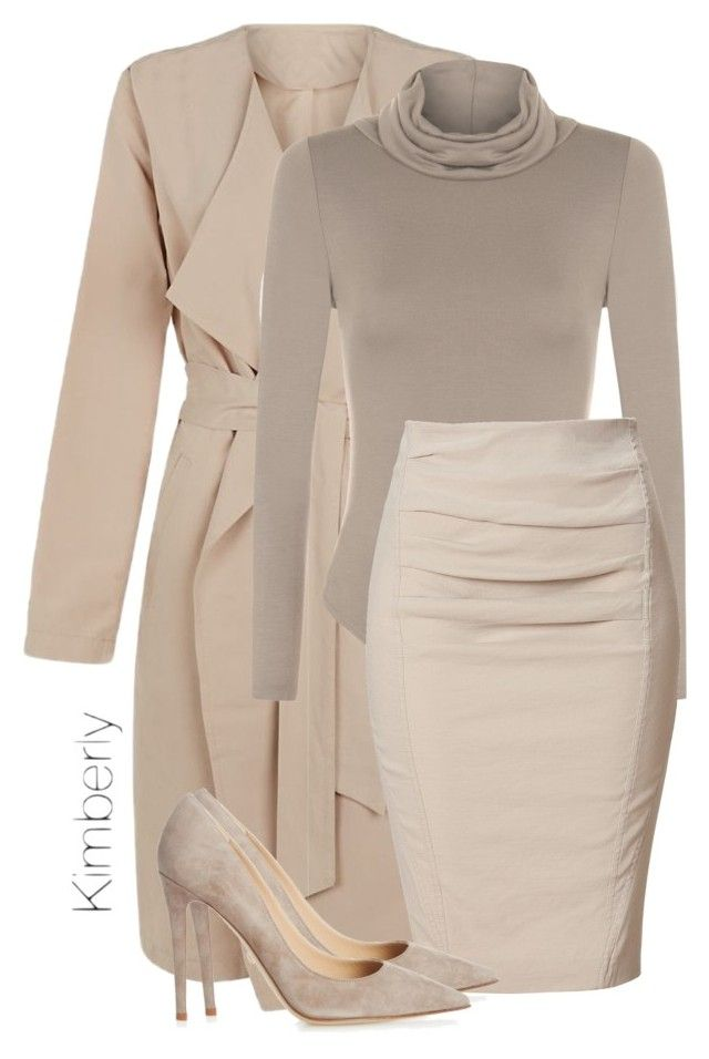"""""""Untitled #1880"""" by whokd ❤ liked on Polyvore featuring First & I, WearAll, Donna Karan and Diane Von Furstenberg"""