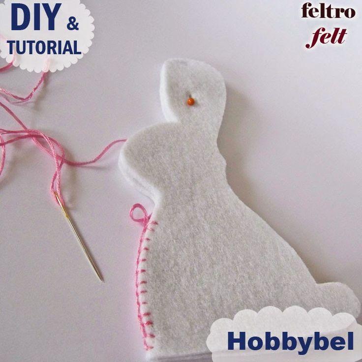 cartamodello gratis conigli cucito creativo - felt bunny free pattern tutorial Tutorial di Pasqua : idea di cucito creativo , conigl...