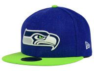 Buy Seattle Seahawks NFL Heather Action 2 Tone 59FIFTY Cap Fitted Hats and other Seattle Seahawks New Era products at NewEraCap.com