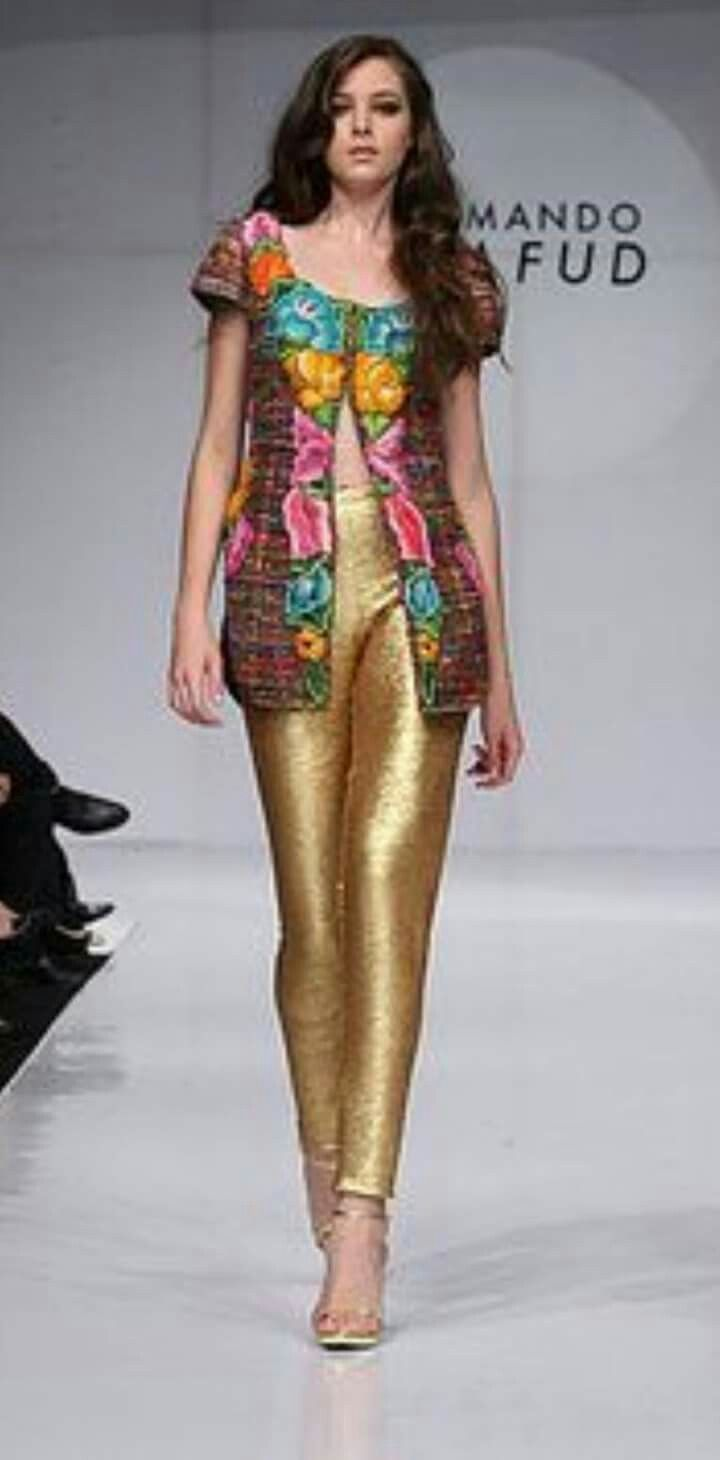Fashon Cool Elegancia Oufit 39 S En Dorado Y Bordado