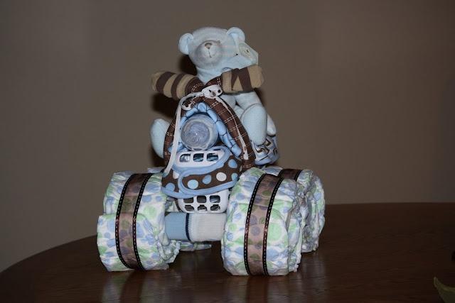 how to make a baby diaper 4-wheeler...oh man