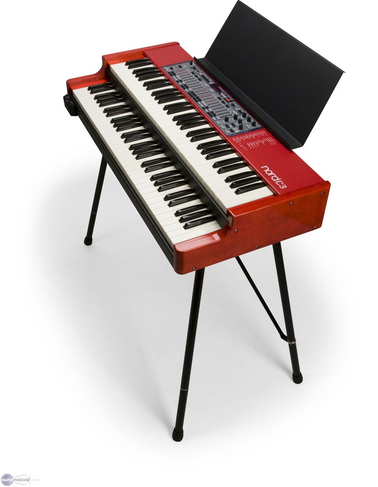 "Clavia Nord C3  - Clavia's clonewheel sounds really, really good.  Plus, it has Farfisa, Vox and even a pipe organ.  Dual manual. No drawbars, though.  You use the buttons to ""slide"" the LEDs."