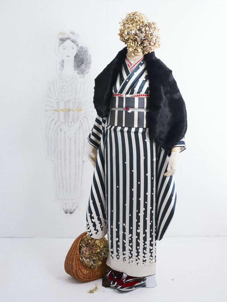 Kimono ホワイトプール振袖 | DOUBLE MAISON