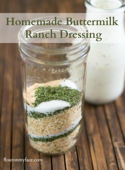 Homemade Buttermilk Ranch Dressing - Flour On My Face