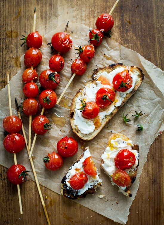 Grilled Tomato Skewers on Toast | 31 Amazing Things To Cook In August