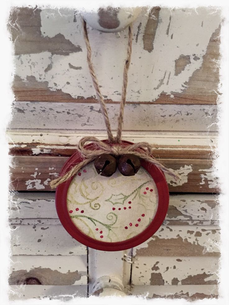 A personal favorite from my Etsy shop https://www.etsy.com/listing/488301411/rustic-primitive-mason-jar-lid-ornament