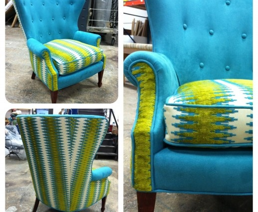 Chevron Armchair   Upholstered By U Fab Store, Richmond VA