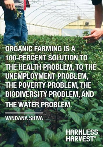 Be part of the solution #GoOrganic