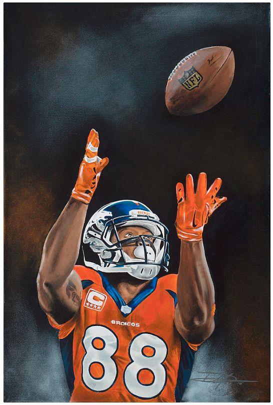 Demaryius Thomas, Denver Broncos by Don Medina