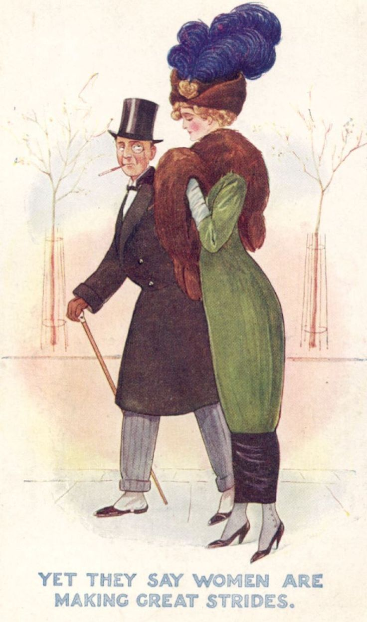 Some hobble skirts were so tight that they needed a slit at the bottom so the woman could actually walk!