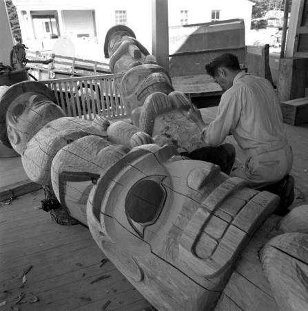 Chilkat Totem Carver, Port Chilkoot. :: Anchorage Museum at Rasmuson Center