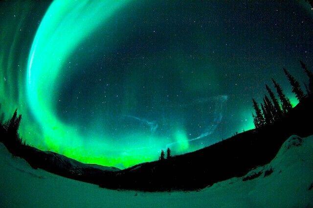 The Aurora Borealis, as seen from Chena Hot Springs, Alaska