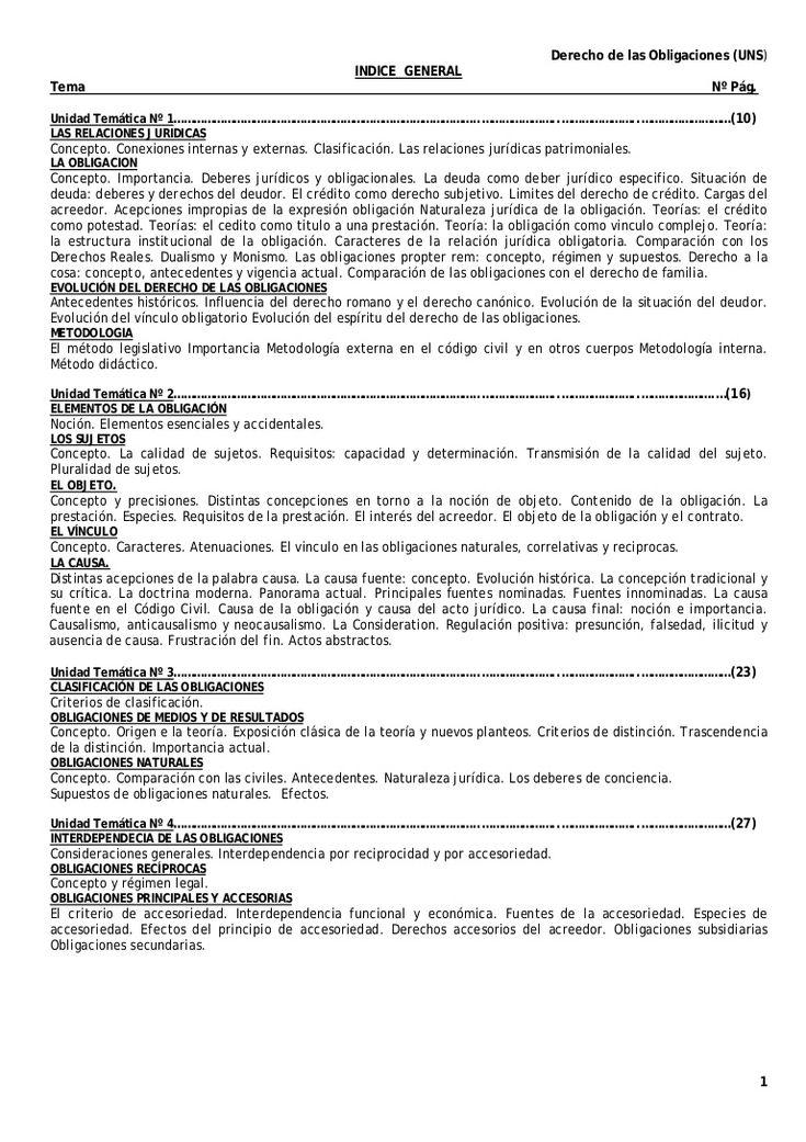 Derecho de las obligaciones (uns) by soyuncapo via slideshare