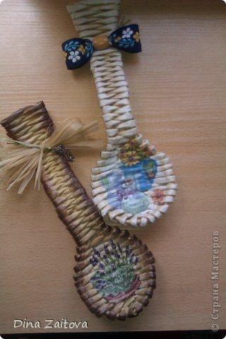 Плетение из газет. Декоративные ложки для украшения кухни (20) (320x480, 80Kb)