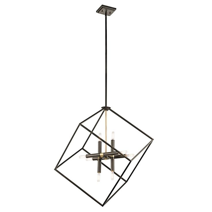Kichler Lighting Cartone 8 Light Pendant This 8 Light Pendant By Kichler  Lighting Has An Olde Bronze Finish. For Use With Eight Clear Inu2026