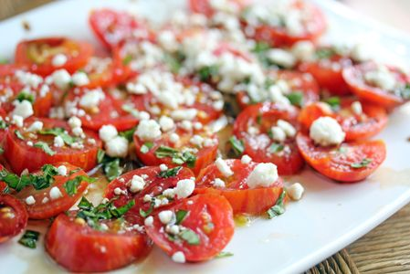 Balsamic Tomatoes with Feta
