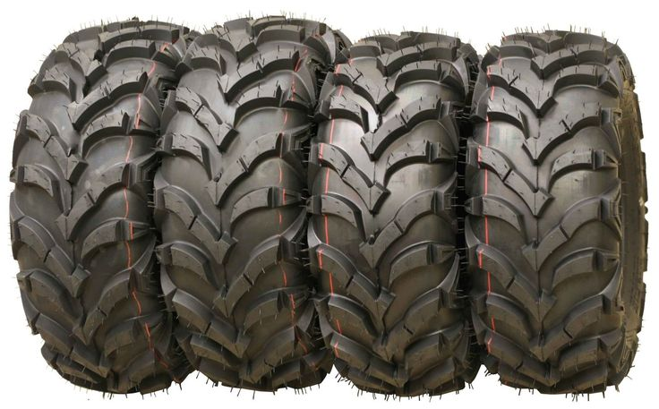 Set of 4 WANDA ATV Tires 25x8-12 Front and 25x10-12 Rear 6PR P341 Deep Tread