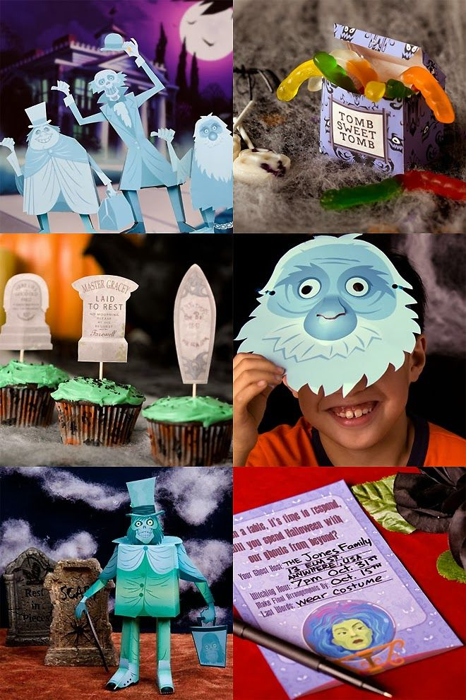 Collection of FREE Haunted Mansion Halloween Printables by Disney via Spoonful.com