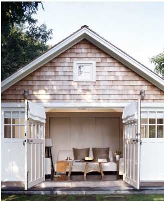 How fun would it be to convert a barn or garage into a - Garage conversion exterior ideas ...