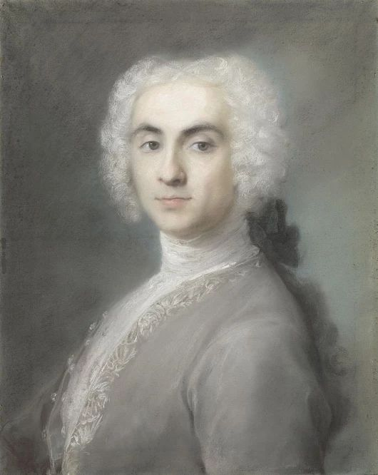 Rosalba Carriera painted 'Portrait of a Man' in the 1720s. The work's luminou...