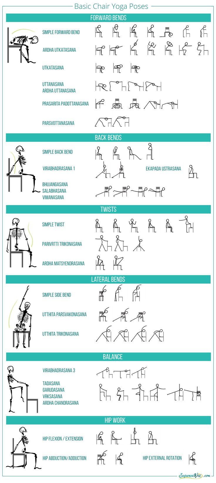 Basic chair yoga poses … Υγεία και γιόγκα, Πιλάτες