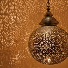 Eclectic Ceiling Lighting.  Moroccan inspired lighting