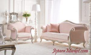 sofa klasik jepara warna merah muda