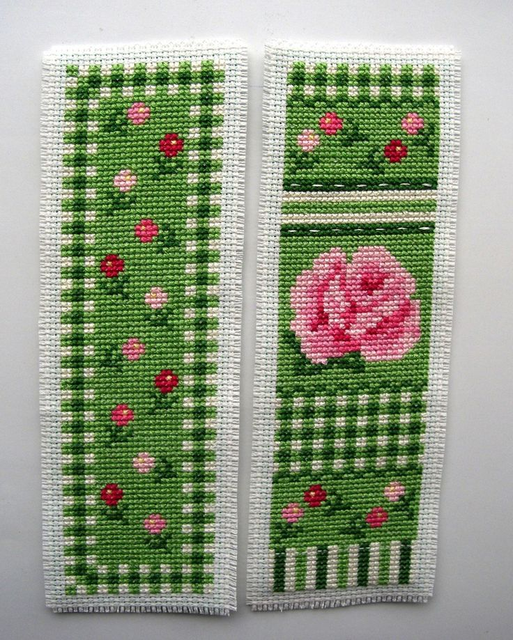 Twilleys Rose Medley cross stitch bookmarks