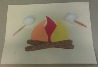 Campfire Craft  for Jesus cooking breakfast on the beach Matthew 28 and John 21
