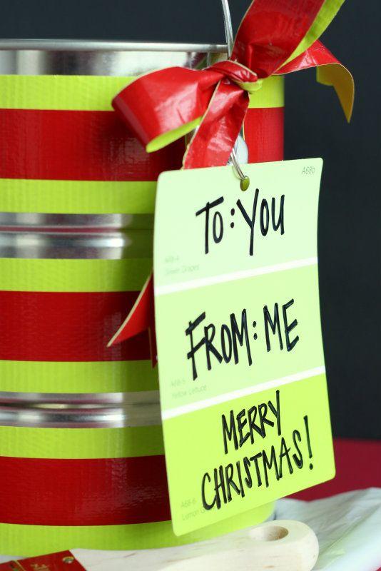 Paint Swatch Gift Tag Idea - Wine Sisterhood Blog