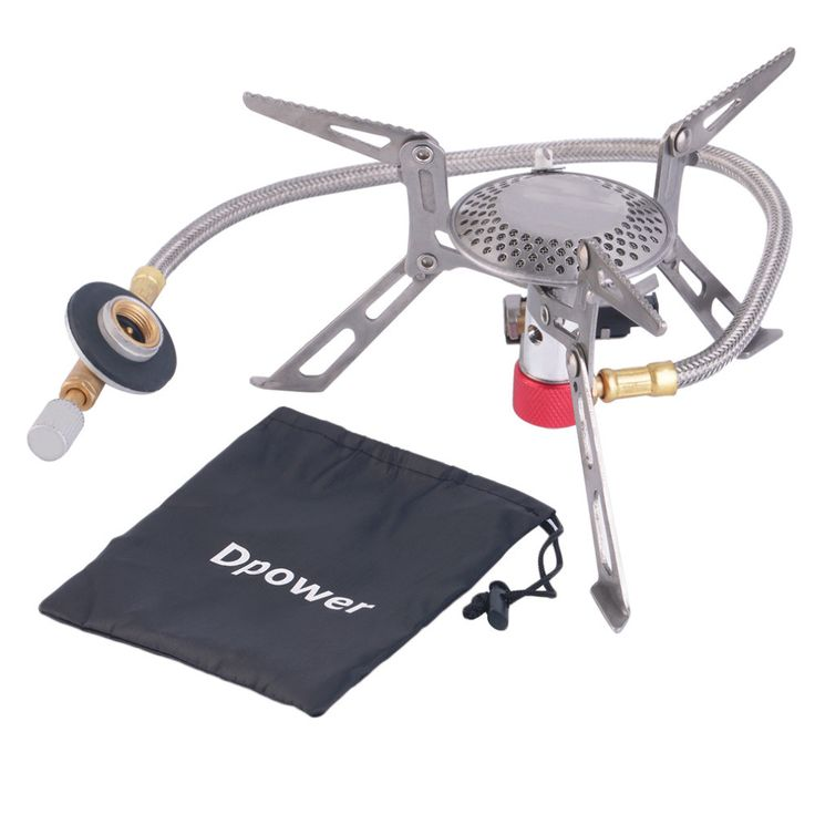 Dpower Mini Portable Folding Camping Gas-powered Stove with Piezo Ignition