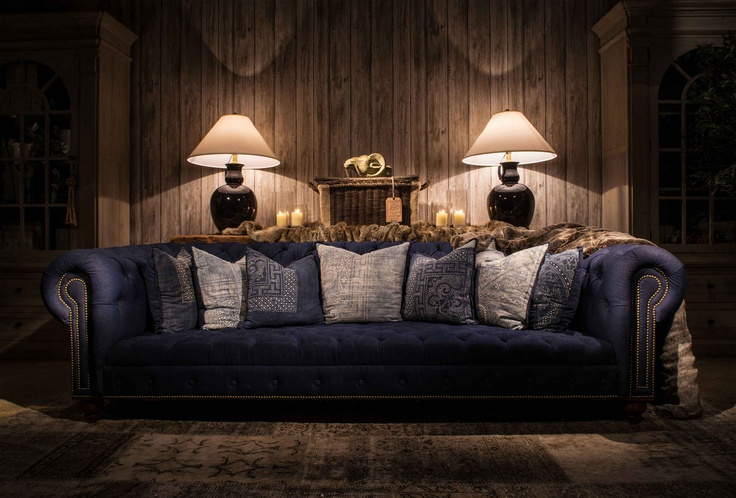 Ralph Lauren blue chesterfield - the use of light: