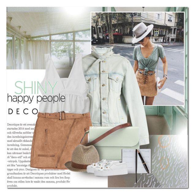"""Shiny happy people"" by undici ❤ liked on Polyvore featuring Rizzoli Publishing, Kolor, Balenciaga, Ally Capellino, Smythson, Borsalino and Marc Jacobs"