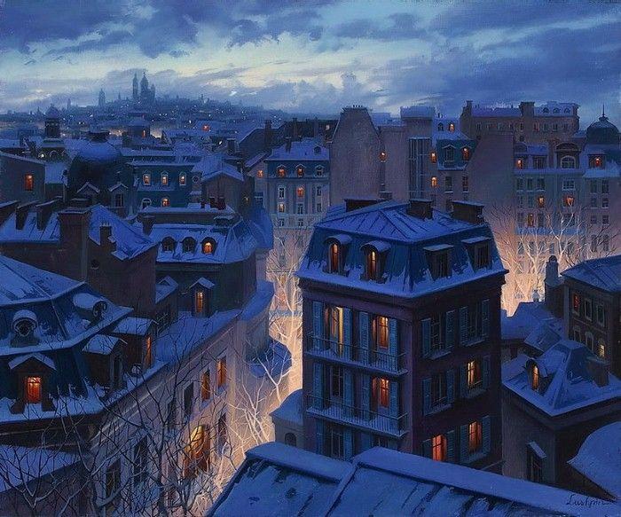 Городской пейзаж. Евгений Лушпин