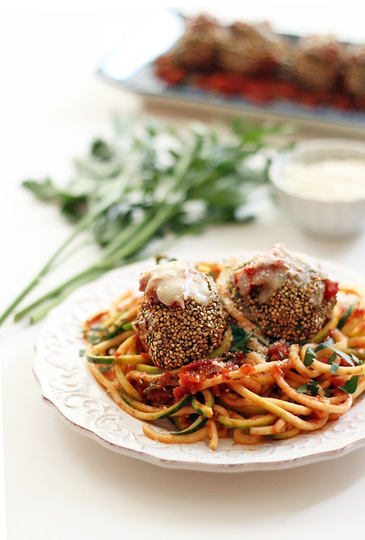 17 best images about spiralize your fruits veggies on for Zucchini noodles and meatballs recipe