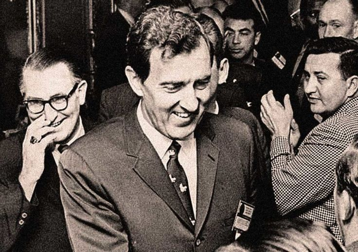 Edmund Muskie And Campaign '68 – Past Daily Reference Room – Past Daily – Edmund Muskie was the Democratic vice-Presidential running mate of Hubert Humphrey in the 1968 election. In a year already battered by violence and loss, the fact that Democrats had lost their guiding light, Robert F. Kennedy, to an assassin's bullet tossed the party into a state... #assassinations #chicago