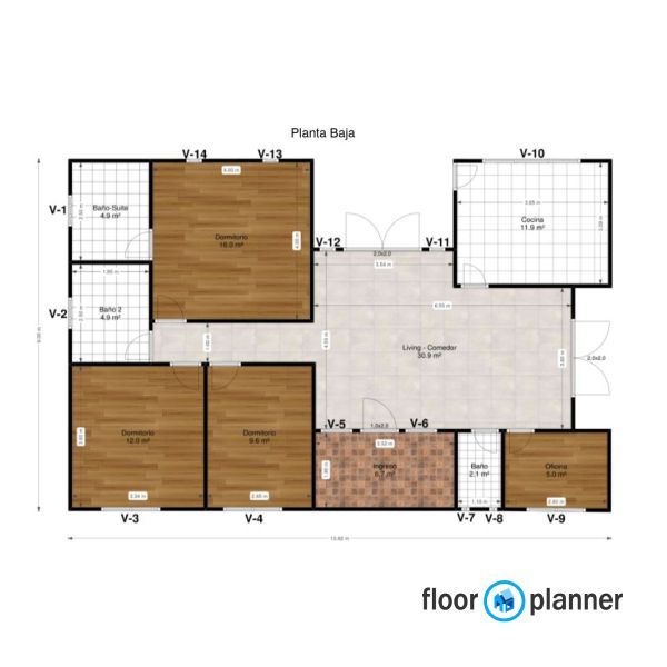 3 Bedroom Floorplan Create Floor Plan Floor Plans Office Space
